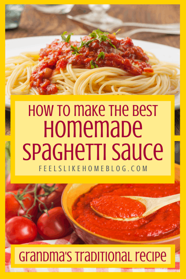 How to make the best simple and easy spaghetti sauce from scratch - This simple and easy recipe can use fresh or canned tomatoes, is meatless, and super healthy. You can use this recipe to can or freeze or use fresh. It is authentic and traditional with mushrooms and veggies. Can be made in a small or large batch.