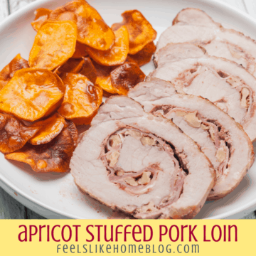stuffed pork loin with apricots and cranberries