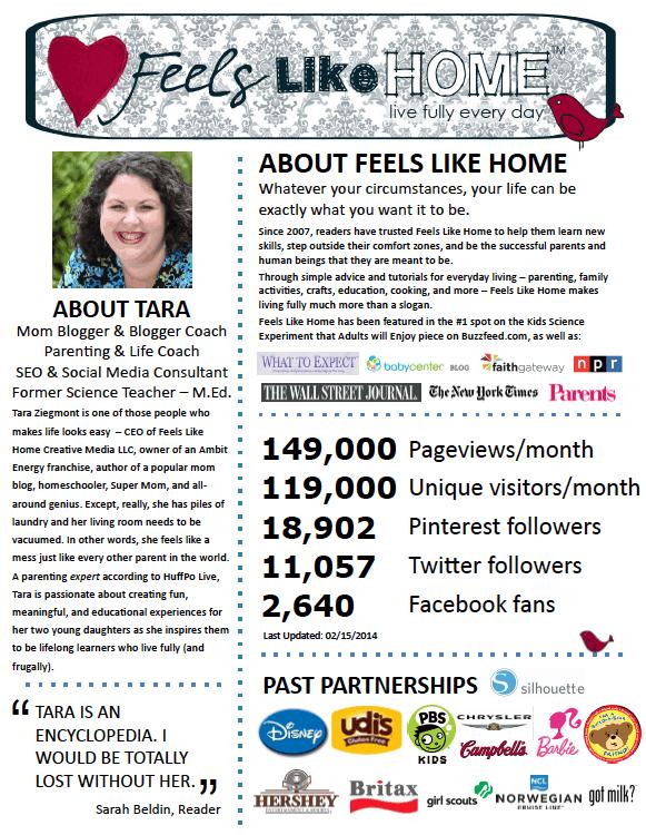 Feels Like Home media kit page one