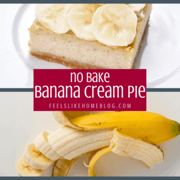 How to make the best no bake easy banana cream pie with instant pudding and an easy graham cracker crust. This simple and quick creamy pie takes less than 10 minutes and is sure to please any crowd!