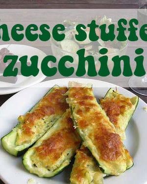 cheese stuffed zucchini