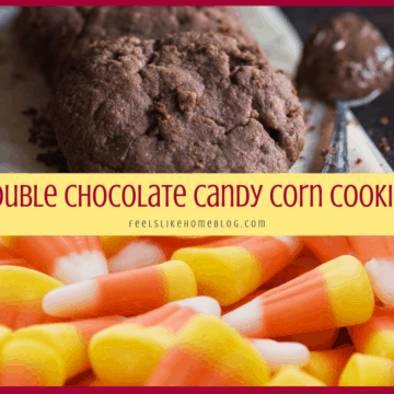 chocolate cookies and candy corn