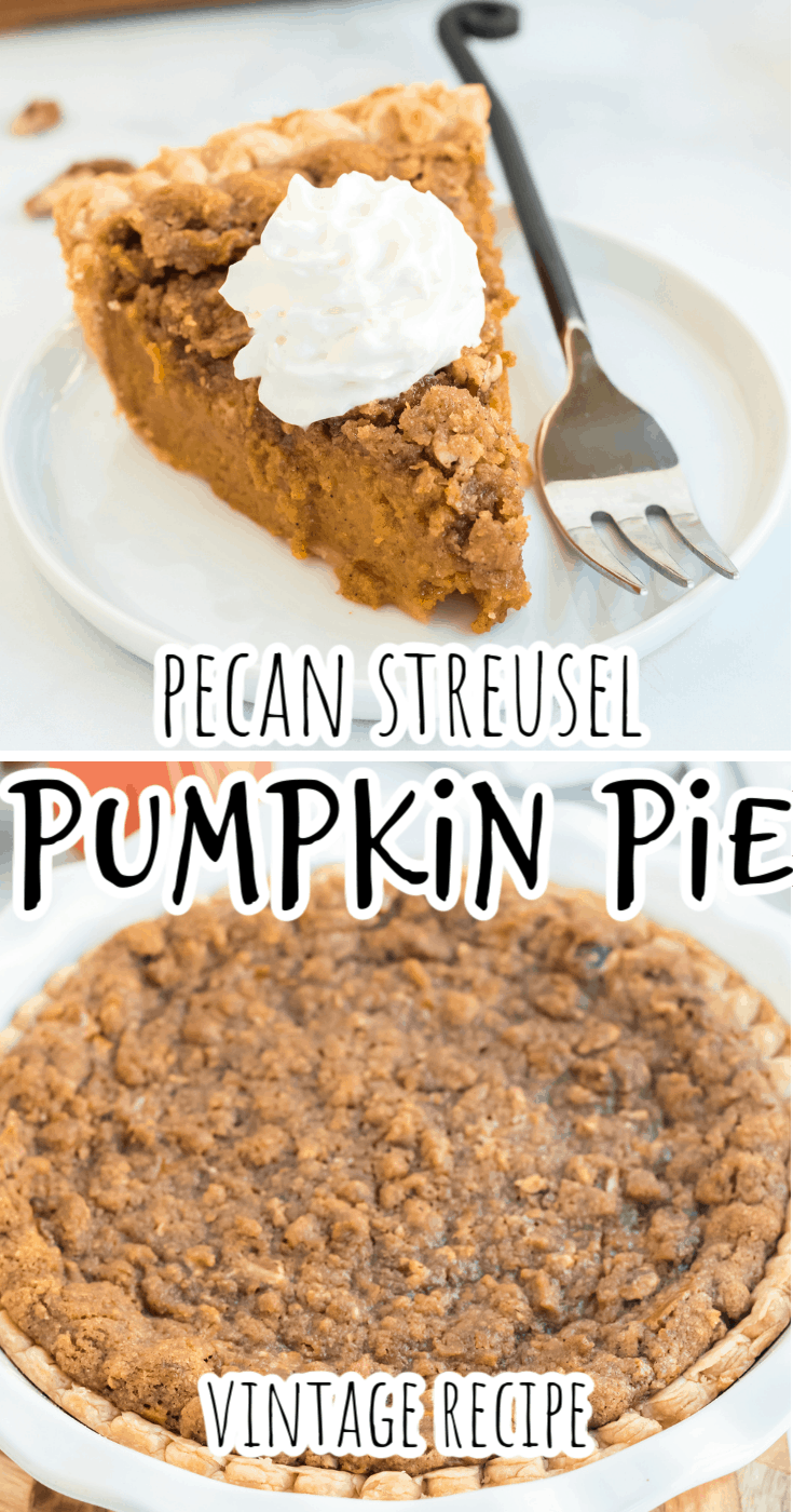 Gourmet Pumpkin Pie with Pecan Crumb Topping