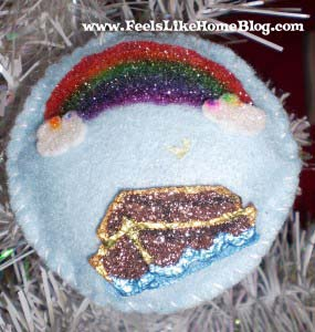 Noah and the Flood - Ark & Rainbow ornament