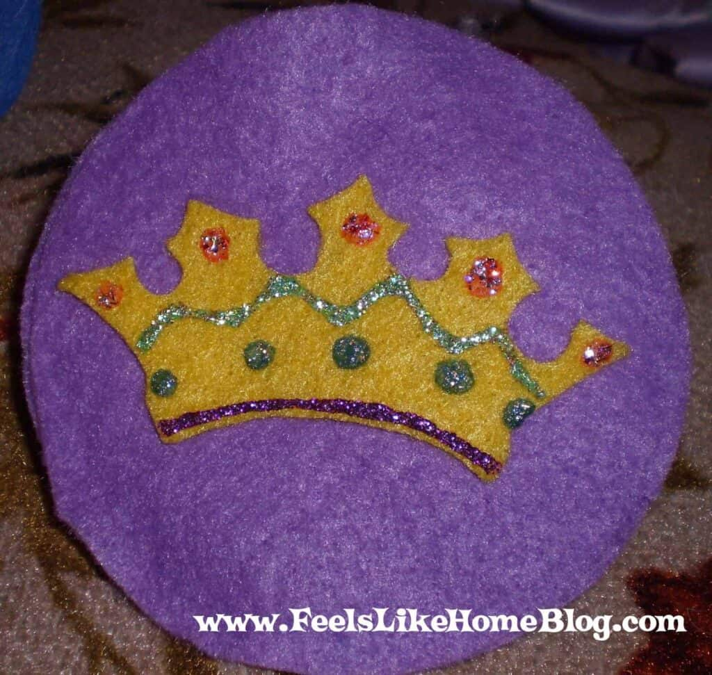 Crown Christmas Bible Ornament Craft
