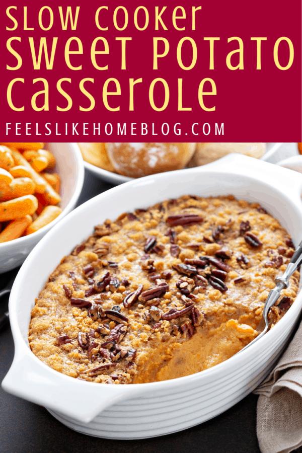sweet potato casserole in a dish