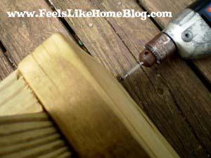 predrill holes for raised garden bed