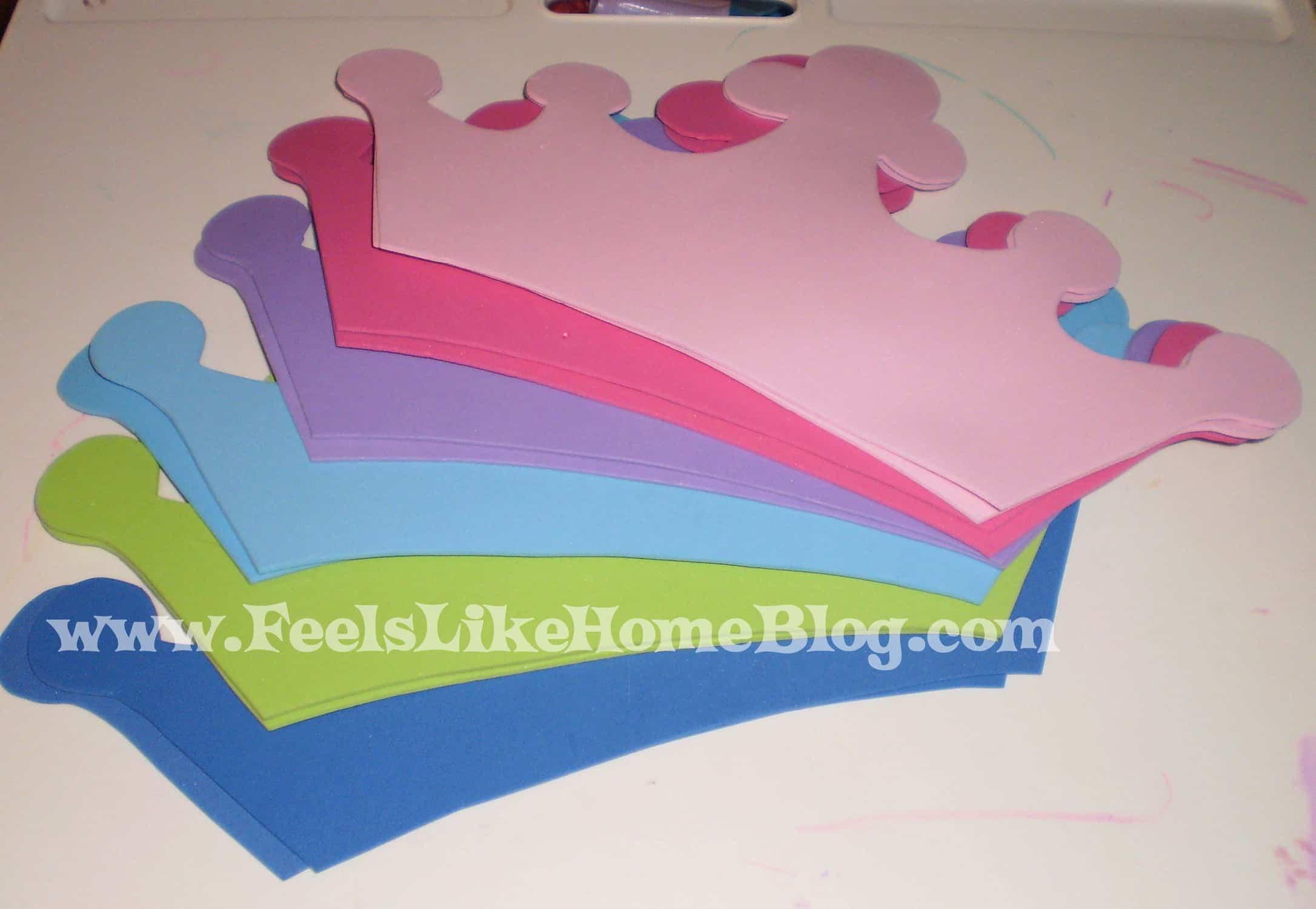 cut out foam crowns