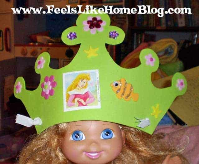 finished princess crown