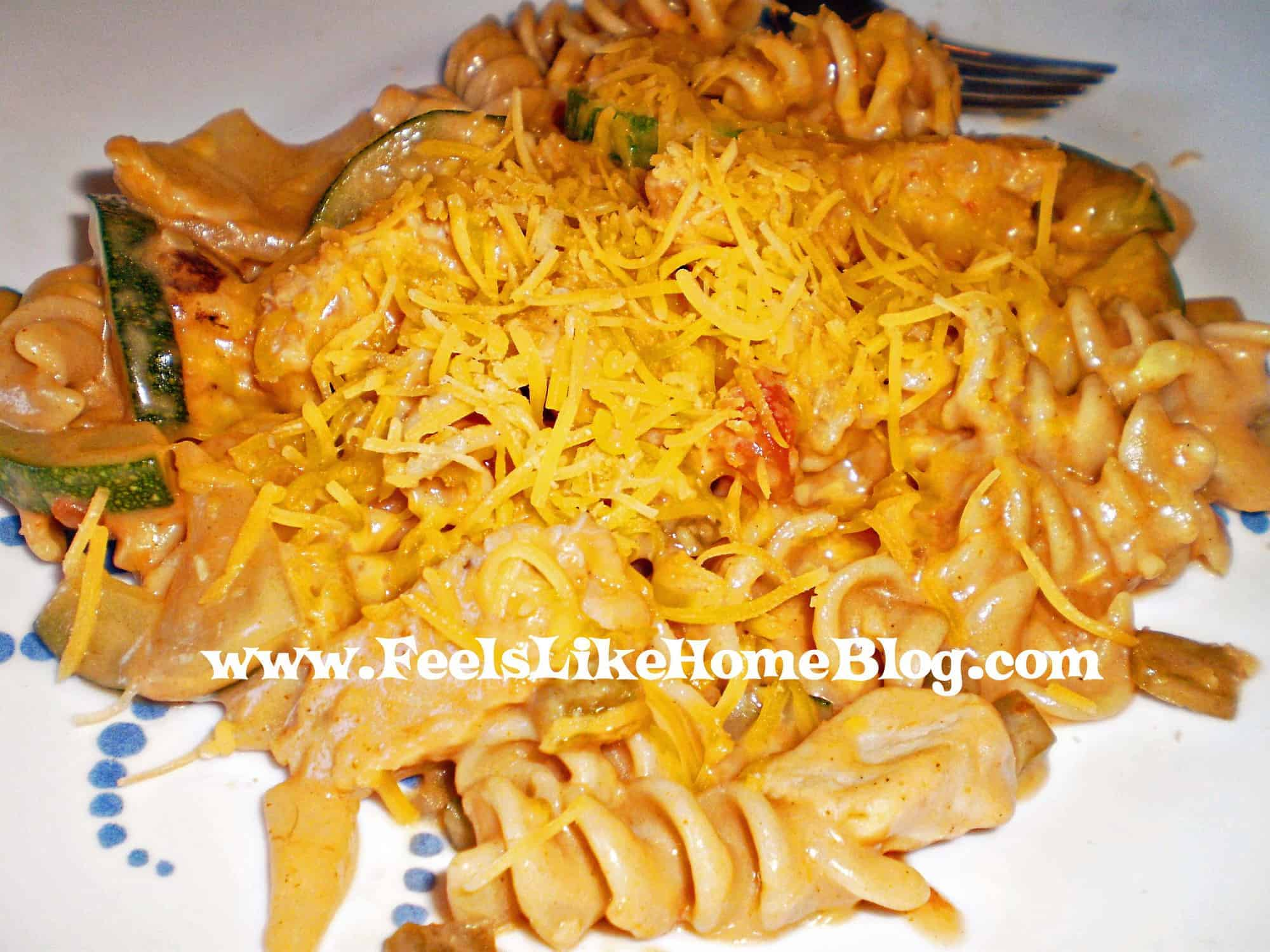 Quick and easy salsa chicken pasta