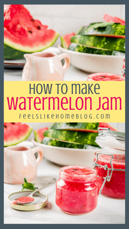 watermelon jam in a jar
