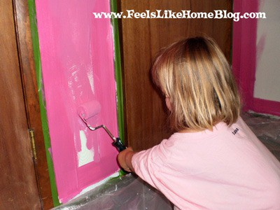 painting the walls hot pink