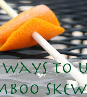 how to use bamboo skewers