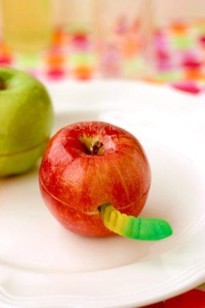 Wormy Apple Snack
