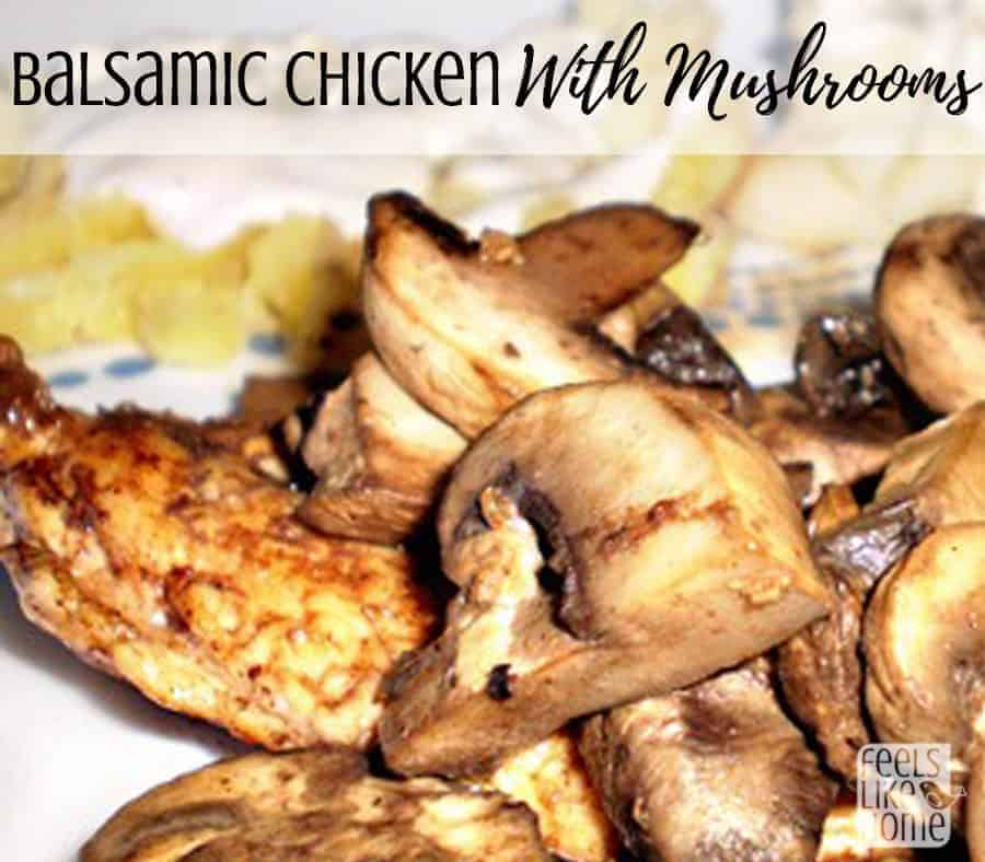The best balsamic chicken recipe - Simple and easy skillet recipe. Gluten-free meal with veggies.