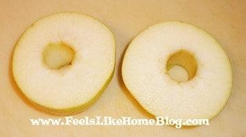 apple cut in half