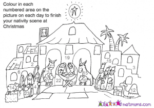 coloring the advent - Advent Coloring Pages