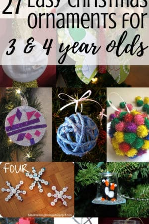 27 easy DIY Christmas tree ornaments that preschoolers can make - These homemade crafts include everything from pictures to paint to popsicle sticks to pipe cleaners to beads and, of course, glitter. They are a fun way to celebrate Xmas with your kids, and they will make adorable decorations on your tree or great gifts for the grandparents!