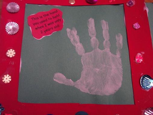 hand print frame