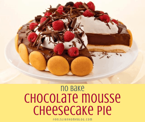 no bake chocolate mousse cheesecake pie