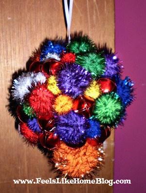 pom pom ornament craft