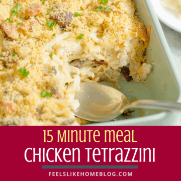 Quick & easy chicken tetrazzini casserole recipes - This simple and healthy 15 minute meal is baked in the microwave oven using boneless chicken, asparagus, mushrooms, pasta, and a creamy sauce.