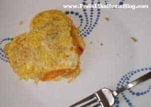 heart-shaped omelet