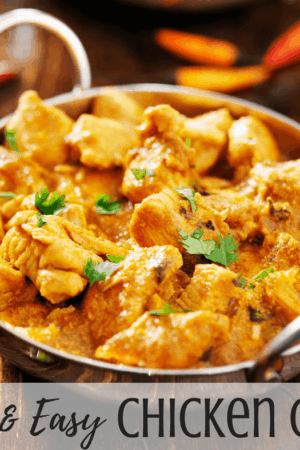 How to make the best quick & easy chicken curry with cilantro couscous - This simple Indian recipe is perfect for weeknight dinners.