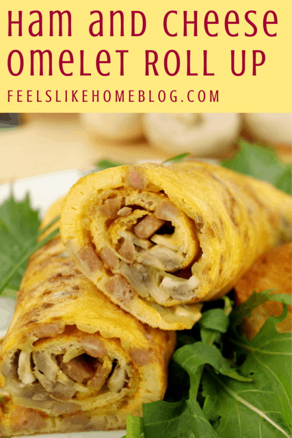 A close up of a rolled omelet