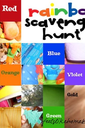 rainbow scavenger hunt for preschoolers