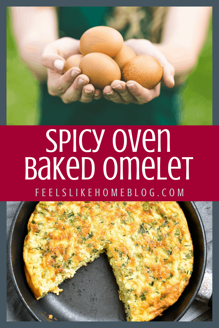 Spicy Oven Baked Omelet