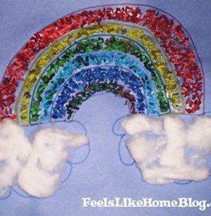 finished mosaic rainbow