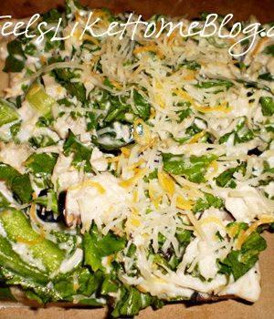 chicken salad pizza