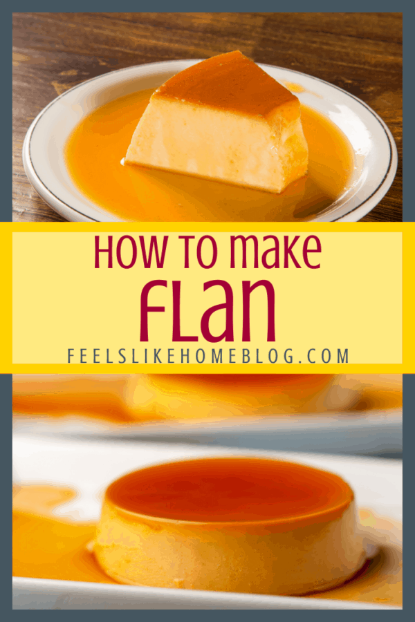 How to make the best classic, simple and easy flan - This quick recipe uses sugar, eggs, and milk to make the best creamy traditional caramel custard. Authentic homemade flan in individual ramekins.