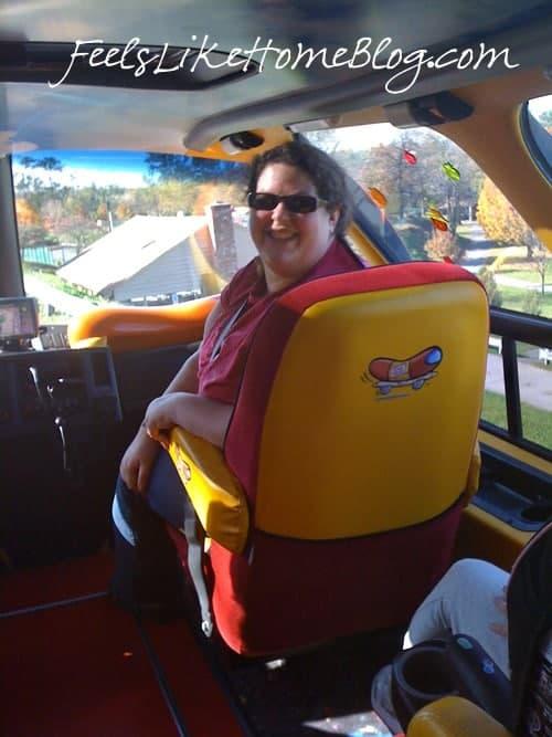 Tara in Oscar Mayer Wienermobile