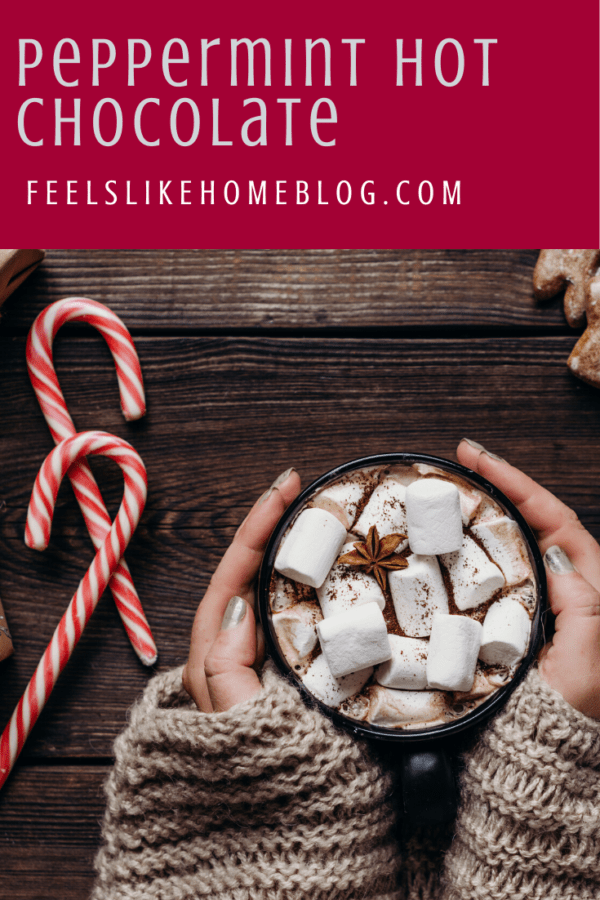 This quick and easy peppermint hot chocolate is almost too easy to call a recipe. Using pre-made hot cocoa mix and a secret ingredient, you can make a rich and creamy drink that everyone will love.