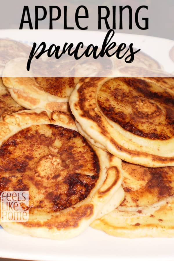 These tasty apple ring pancakes are simple and easy. Healthy with fresh fruit, this recipe uses cinnamon and syrup with pancake batter. Best of the breakfast recipes!