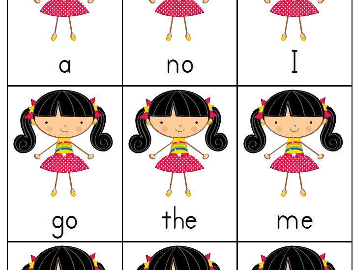 Teaching reading using sight words go fish