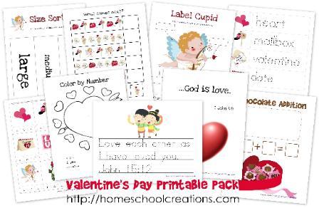 Valentine's Day Homeschool Printables