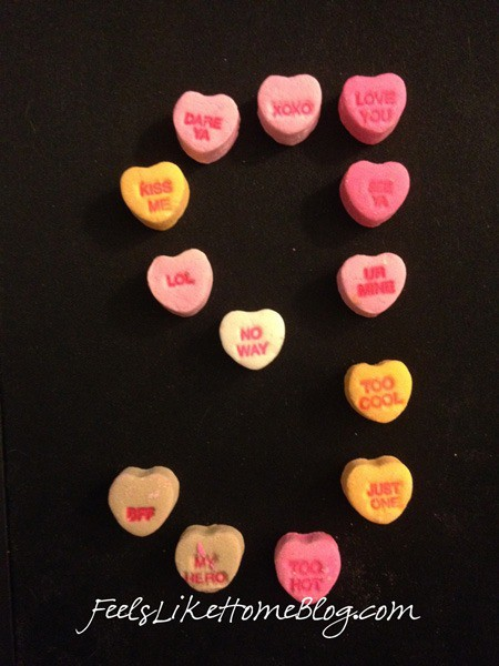 candy hearts activities - handwriting