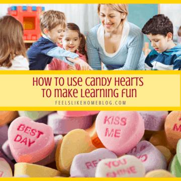 Candy hearts and a preschool teacher
