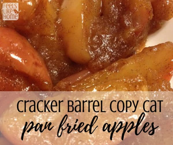 Simple and easy pan fried apples - This southern recipe uses cinnamon, butter, and brown sugar to make the best apples, way better than canned. Good for breakfast, brunch, or dessert. Great to top pancakes. Gluten free. Made in a skillet.