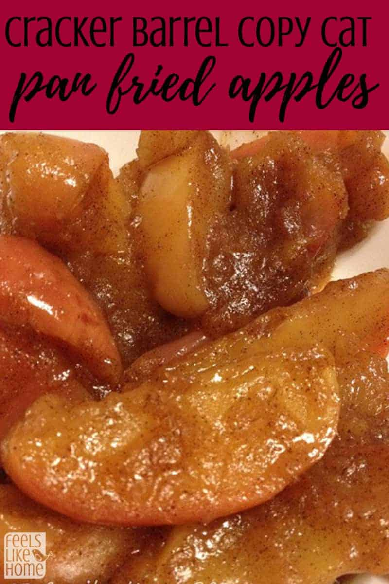 Cracker Barrel Copycat Skillet Fried Apples