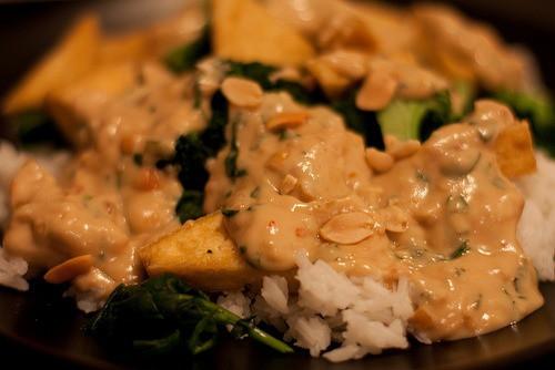 tofu stir fry with peanut sauce