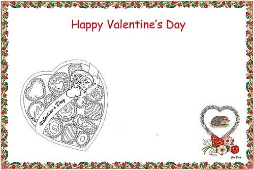 valentines place mat