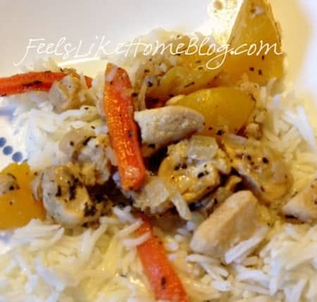 peachy chicken stir fry