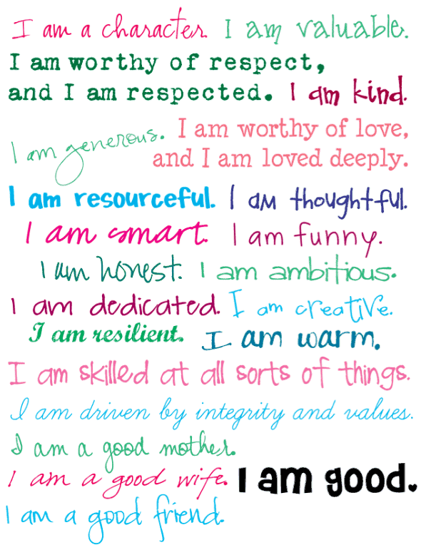 free positive affirmations printable for women - This gorgeous printable uses I am statements to help with anxiety and depression. It can be used as wall art.