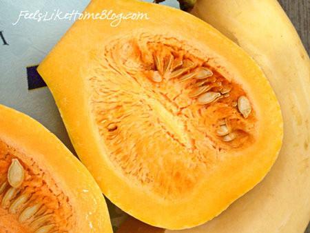 A cut pumpkin, with Pumpkin and Science