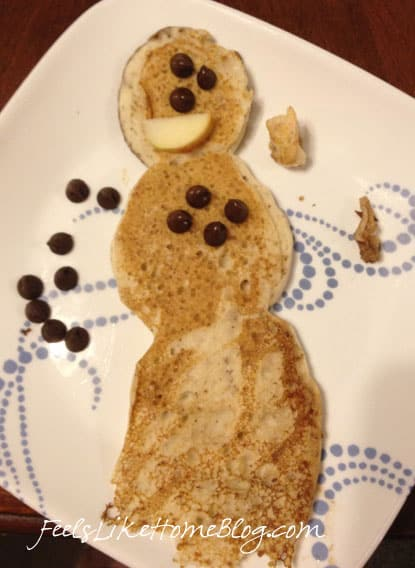 how to make snowman pancakes
