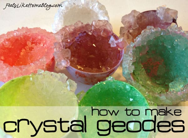 How to Make and Grow Your Own Crystal Geodes - Cool Science Experiment for Kids - These super easy and simple instructions are based on Martha Stewart's but much better with more science background. Use natural or plastic eggshells to make beautiful, fun crystals for Easter, science fair, or any time!